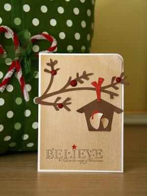 Новорічні листівки за допомогою електронної машинки для вирізання. Cricut Christmas Cards Day 4