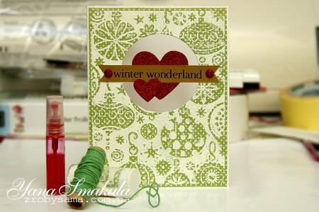Техніка: подвійний ембоссінг на прикладі новорічної листівки