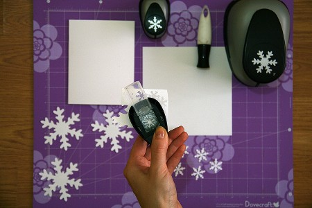Техніка підробного тиснення у новорічних листівках