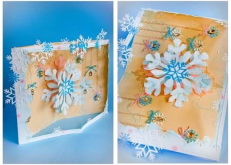Завдання 9. Безшаблонне. Листівки з сніжинками