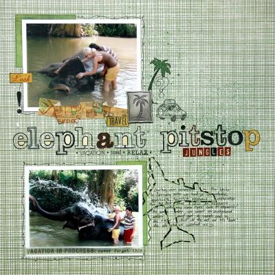 Сторінка Elephant Pitstop для Creative Scrappers