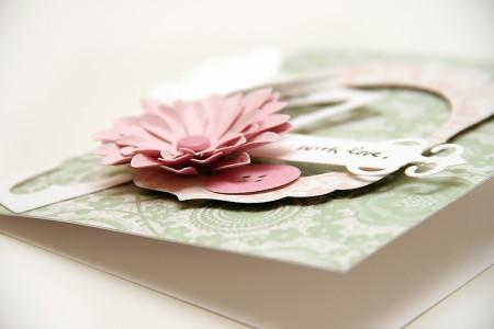 Колекція Isabelle. Частина I - листівки з використанням ножів від Spellbinders. Листівка With Love
