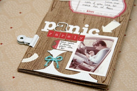 Міні альбом до Дня Валентина із одного аркуша картону 30х30