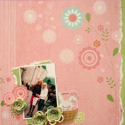 Колекція Spring Drop (First Edition) - покрокове створення скрап сторінки Celebrate Spring