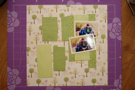 Колекція Spring Drop (First Edition) – покрокове створення скрап сторінки Easter Bunnies