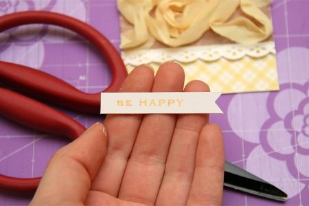 Листівка Be Happy. Детальний покроковий майстер клас (колекція Family Ties від First Edition)