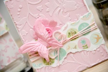 Огляд колекції Princess Fairytale від Dovecraft. Листівка з тисненням