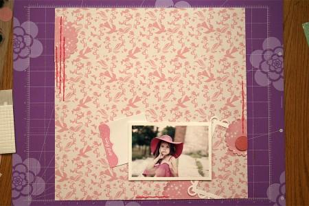 Міні огляд колекції Princess Fairytale від Dovecraft. Виготовлення скрап сторінки Little Lady