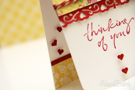 Листівка Thinking of you. Детальний покроковий майстер клас (колекція Family Ties від First Edition)