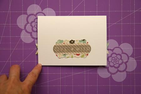 Листівки із колекції Sweet Day від Echo Park. Листівка I love you