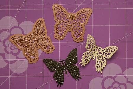 Листівки із новими ножами від Spellbinders (Summer CHA 2012). Листівка із метеликами