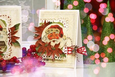 Новорічні листівки із колекції Christmas Village а ножів Spellbinders. Продовження. Листівка Winter Wonderland