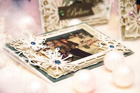 Новорічні листівки із колекції Christmas Village а ножів Spellbinders. Продовження. Листівка A Merry Christmas