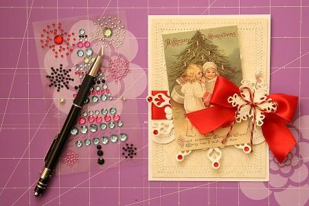 Новорічні листівки із колекції Christmas Village а ножів Spellbinders. Продовження. Серія листівок A Merry Christmas