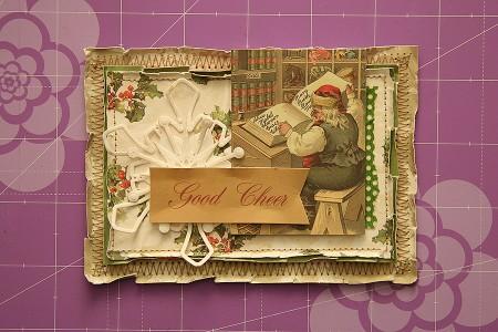Новорічна листівка із Санта Клаусом A Good Cheer