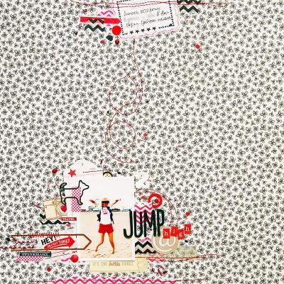 Сторінка Jump High за скетчем від Scrap Friends