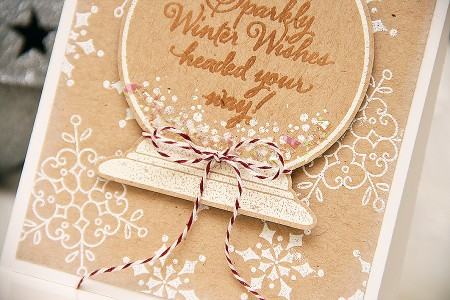 Листівка Sparkly Winter Wishes для Stampendous