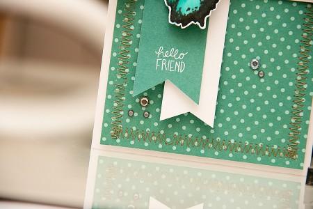 Листівка Hello Friend з метеликом для Stampendous