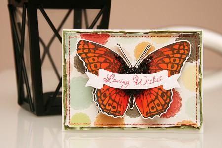 Листівка з метеликом Loving Wishes для Stampendous