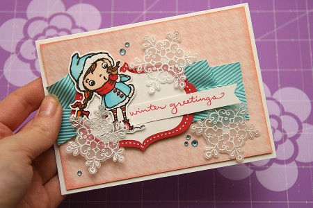 Листівка Winter Greetings для Stampendous