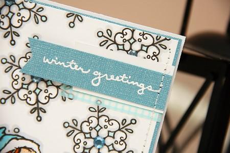 Листівка Winter Greetings з використанням техніки маскування