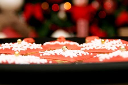 Печиво - новорічні кульки зі сніжинками