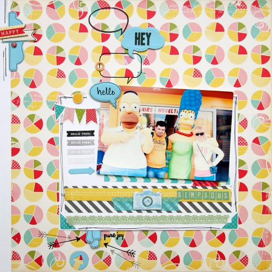 Layout Monday #2: Hello Hey Simpsons!
