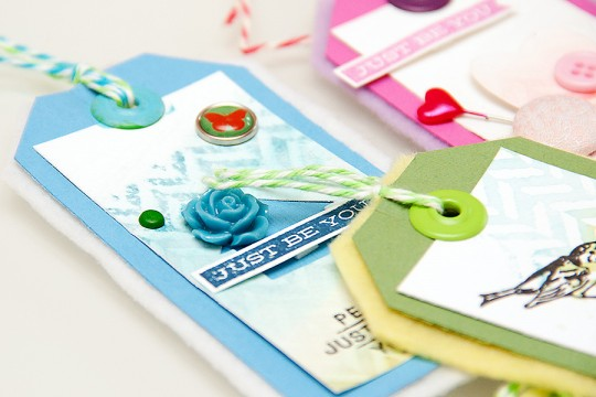 Watercolour tags as gift tags or card embellishments. Video
