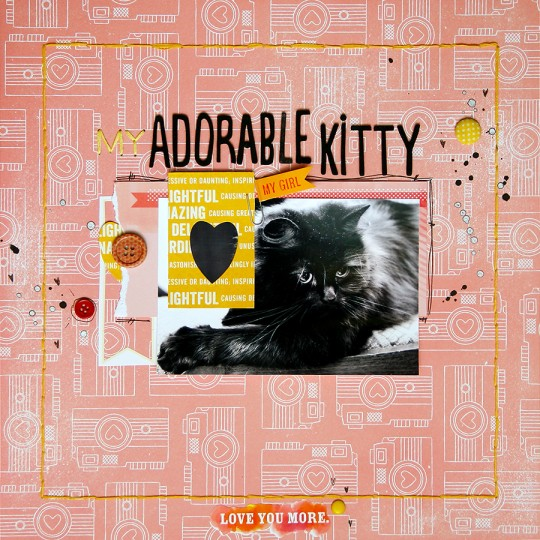 Layout Monday #9: Скрап сторінка Adorable Kitty