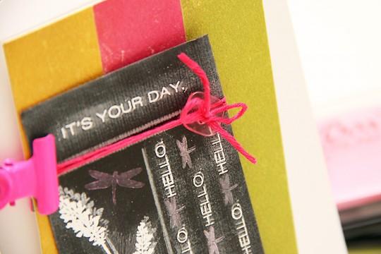 Листівка із крейдовим написом Its Your Day