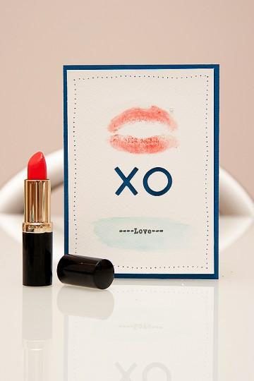 Clean & Simple Die Cutting #9: Листівка XO з поцілунком. Відео