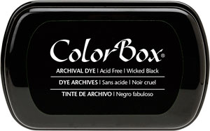 Dye Ink: ColorBox® Archival Full Size Wicked-Black