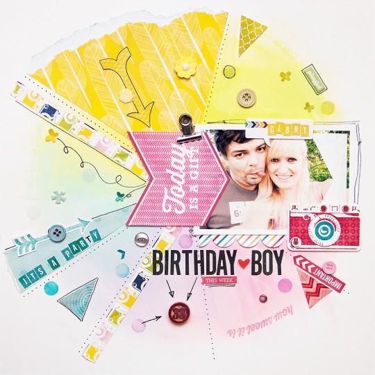 Сторінка Birthday Boy із колекції Here & Now від Echo Park