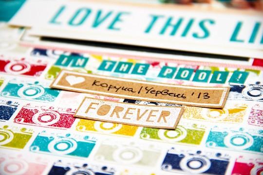 Сторінка Love This Life із колекції Here & Now від Echo Park