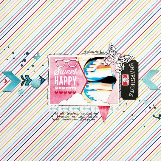 Сторінка Sweet Happy Moments із колекції Here & Now від Echo Park