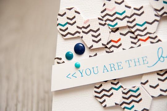 Inspired by Pinterest #31. Листівка із шестикутниками You are the best!