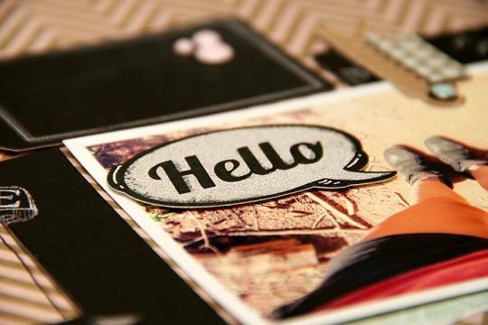 Сторінка Hello мовною хмаркою для журналу Jot