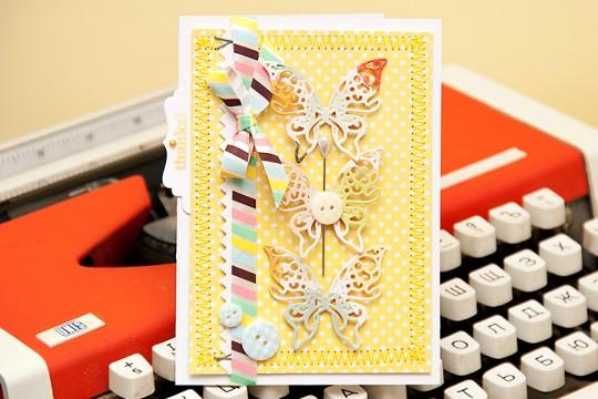 Листівка із метеликами від Spellbinders
