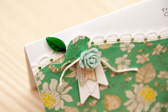 Clean & Simple Die Cutting #14: Листівка із фігурним бордюром
