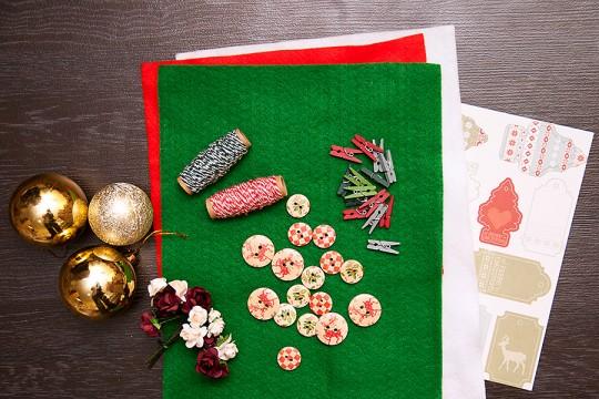 Переприкрашаємо новорічні ялинкові кульки використовуючи тканину