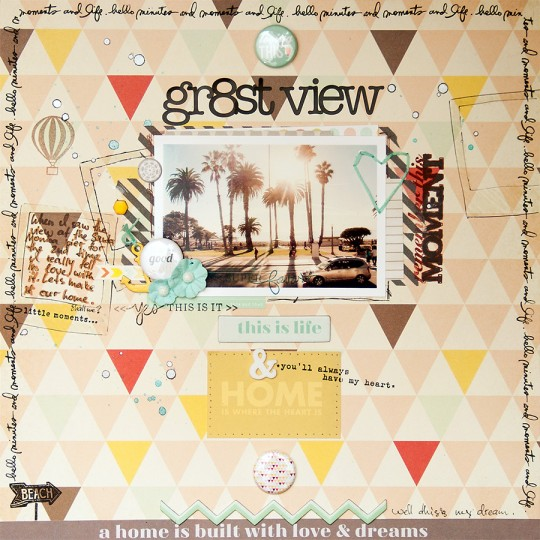 Layout Monday #16: Greatest view