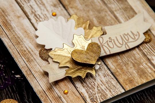 Clean & Simple Die Cutting #15: Осіння листівка подяки