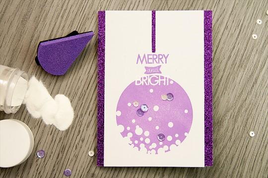 Новорічна листівка Merry & Bright з блискітками для Neat & Tangled