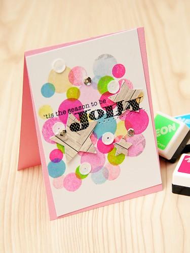'Tis the season to be Jolly Hero Arts Neon Card