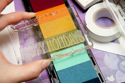 Майстерня різдвяних листівок 2013 | Формування написів для тематичних листівок використовуючи штампи