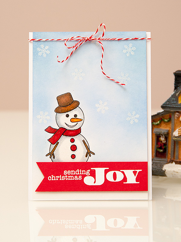 Майстерня різдвяних листівок 2013 | Використання сірого кольору для надання об'єму. Створення візуально об'ємної одношарової листівки
