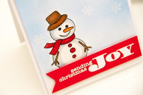 Майстерня різдвяних листівок 2013 | Використання сірого кольору для надання об'єму. Створення візуально об'ємної листівки