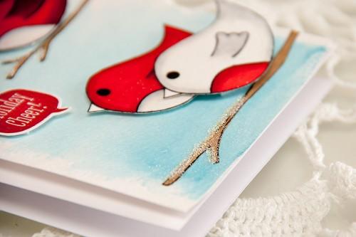 Майстерня різдвяних листівок 2013 | Малювання для доповнення відштампованих зображень. Створення акварельних фонів
