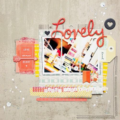 Сторінка для Арт Уголка №44 - Lovely (за моїм скетчем)