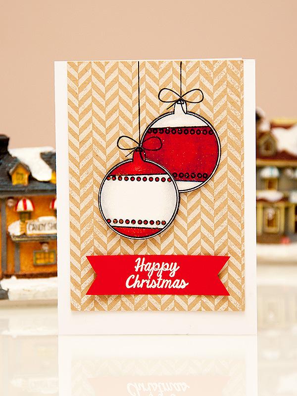 Майстерня різдвяних листівок 2013 | Хірургічна робота зі штампами